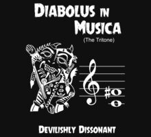 Diabolus in Musica (The Devil in Music -- The Tritone) Kids Tee