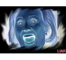 Hilary Clinton negative crazy face Photographic Print