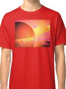 Pink Sun Rays Classic T-Shirt