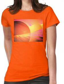 Pink Sun Rays Womens Fitted T-Shirt