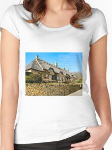 Cotswold Cottages Women's Fitted Scoop T-Shirt