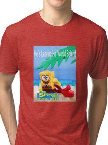 Lego Sponge Bob Poster Tri-blend T-Shirt