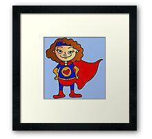 Superhero Girl Framed Print