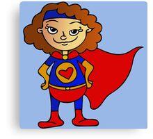Superhero Girl Canvas Print