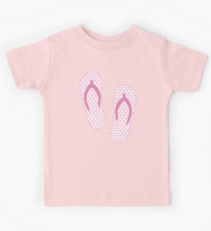 Pink Flip Flops Kids Tee