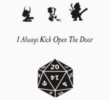 i always kick open the door Baby Tee
