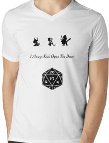 i always kick open the door Mens V-Neck T-Shirt
