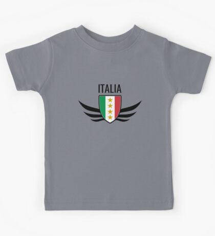 Italia Wing Crest  Kids Tee