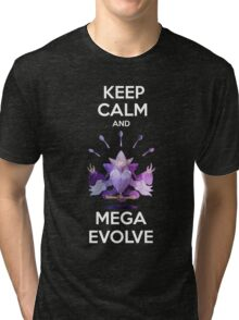 Keep Calm and MegaEvolve! MEGA ALAKAZAM Tri-blend T-Shirt