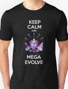 Keep Calm and MegaEvolve! MEGA ALAKAZAM Unisex T-Shirt