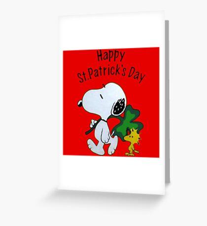 Snoopy Happy Patricks Day Greeting Card