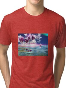 Tulips in water Tri-blend T-Shirt