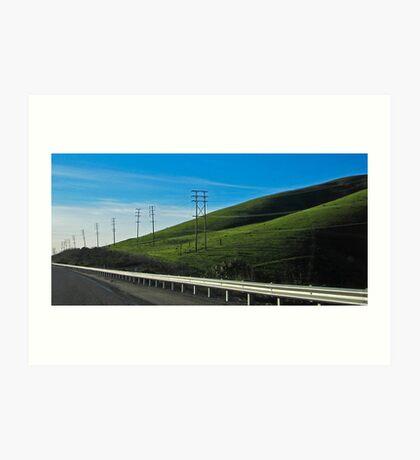 ten pole hill Art Print