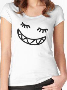 Smiling Doodle Women's Fitted Scoop T-Shirt