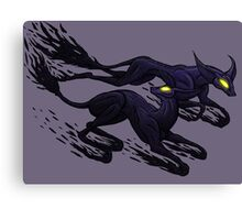 The Nocticynoling (The Night Hounds) Canvas Print