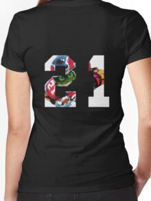 EYESHIELD 21 - SENA KOBAYAKAWA Women's Fitted V-Neck T-Shirt