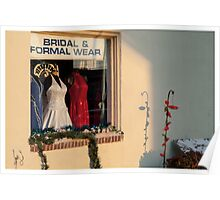Winter Sunset on Bridal Wear Window Poster