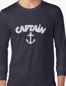 CAPTAiN Anchor White Long Sleeve T-Shirt