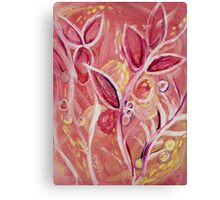 Pink Weaving Branches  Canvas Print