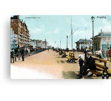 1900 Brighton East Sussex Entrance to West Pier Canvas Print
