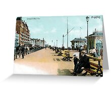 1900 Brighton East Sussex Entrance to West Pier Greeting Card