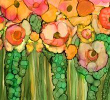 Wild Poppy Garden - Gold Sticker