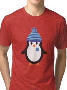 Pocket Snowflake the Penguin Tri-blend T-Shirt