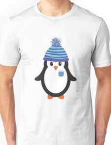 Pocket Snowflake the Penguin Unisex T-Shirt