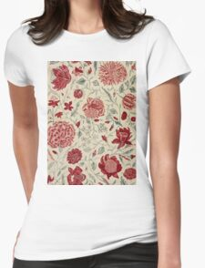 Colorful Flower Floral Design Pattern Womens Fitted T-Shirt