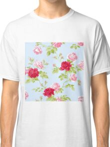 Colorful Flower Floral Design Pattern Classic T-Shirt