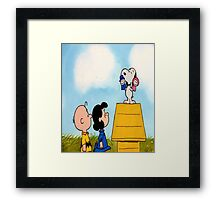 Charlie Brown and Snoopy Tee Graphic Framed Print