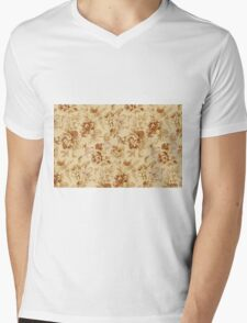 Colorful Flower Floral Design Pattern Mens V-Neck T-Shirt