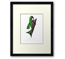 Goby Fish Anatomy Framed Print