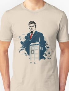 Dr. Who - Doctor Who - 10th Doctor w/ Tardis Unisex T-Shirt