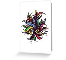Abstract floral composition. Greeting Card