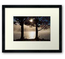 As The Sun Rises, So Does The Fog Framed Print