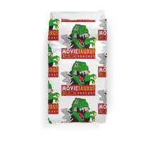 The Moviesaurus Rex Podcast Logo Duvet Cover