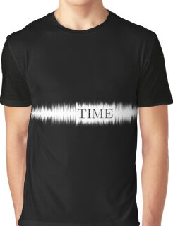 Time Audio Wave (white) Graphic T-Shirt