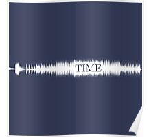Time Audio Wave (white) Poster