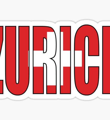 Zurich. Sticker