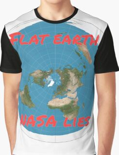 Flat earth reality nasa lies Graphic T-Shirt