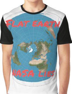 Flat earth reality nasa lies Graphic T-Shirt