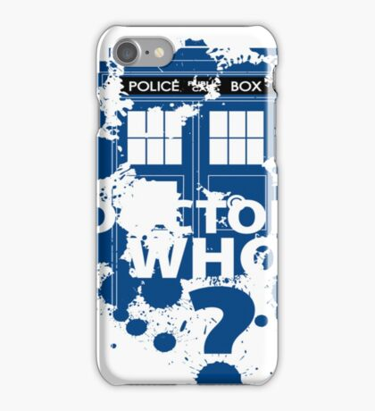 Dr. Who -  Doctor Who? iPhone Case/Skin