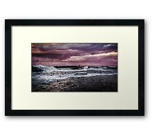 Staithes Harbour Framed Print