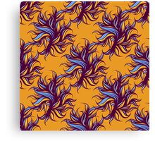 Seamless floral pattern with abstract bird. Canvas Print
