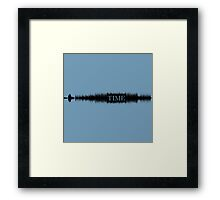 'Pink Floyd - Time' Audio Wave (black) Framed Print