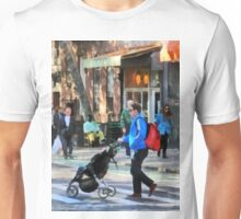 Manhattan NY - Daddy Pushing Stroller Greenwich Village Unisex T-Shirt
