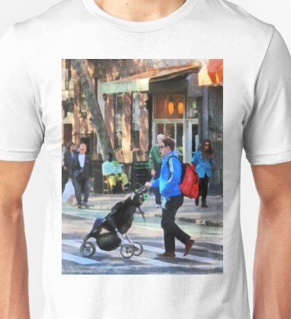 Manhattan NY - Daddy Pushing Stroller Greenwich Village Unisex T-Shirt