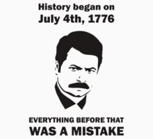 Ron Swanson History July 4 1776 (light) Baby Tee