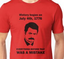 Ron Swanson History July 4 1776 (light) Unisex T-Shirt